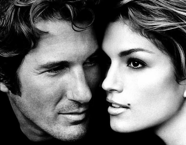 Title	 	Richard Gere & Cindy Crawford, Malibu  	Work Date	 	1992  	Medium	 	silver gelatin print    by Herb Ritts Photography  *Printed as a limited edition