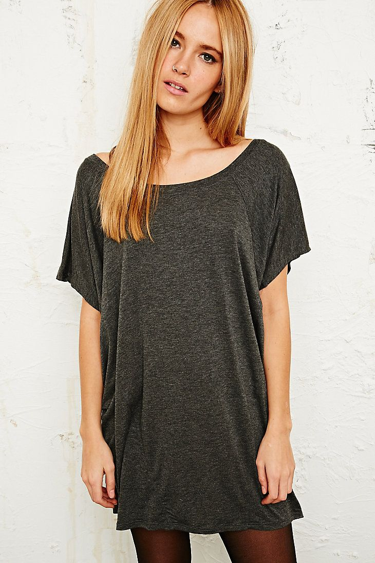 Sparkle & Fade Jersey T-Shirt Dress in Grey