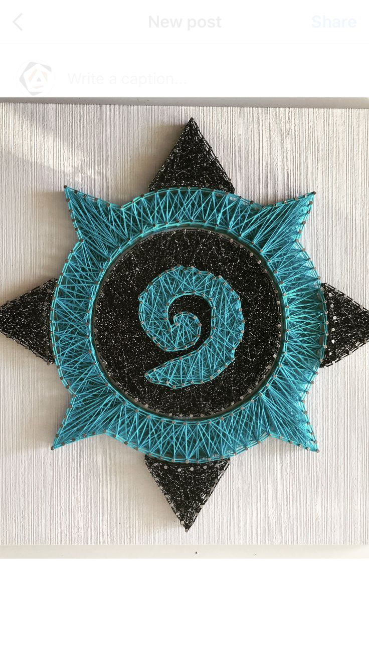 Hearthstone logo improvizat  40x40cm  #ARTEFACT . . .  #stringart #instaart #craft #handcrafted #dailyart #handmade #beautiful #motivation #wood #artist #woodworking #creative #art #artwork  #personalized #name #homedecor #decoration #gift #cadou #hearthstone #blizzard #wow #artshub