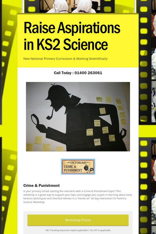 Raise Aspirations in KS2 Science, are you a teacher doing a Crime & Punishment Topic this term? www.pulsecsi.com