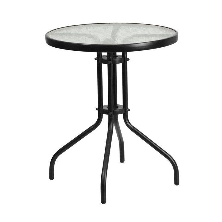 Fiona Black Aluminum 23.75'' Round Indoor/Outdoor Table