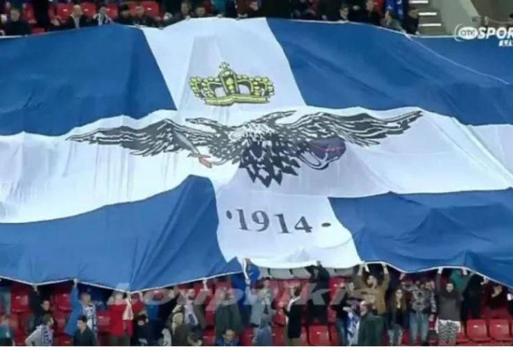 Σύμβολο  οργανωμένης αθλητικής βίας και  «Απαγορευμένο αντικείμενο» η σημαία της Βορείου Ηπείρου για τον Τόσκα!!!!!!