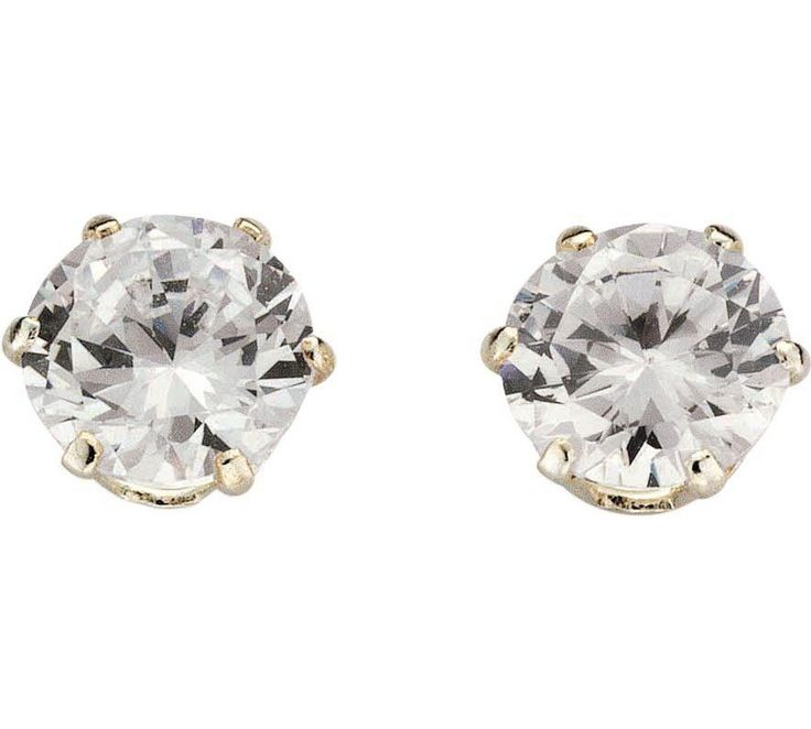 Buy Revere Sterling Silver Round Cubic Zirconia Stud Earrings at Argos.co.uk - Your Online Shop for Ladies' earrings, Ladies' jewellery, Jewellery and watches.