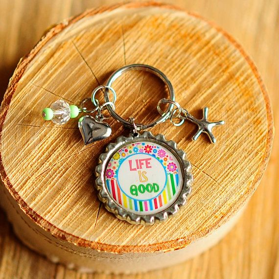 Life is Good Key chain  high resolution image by CreativeHands4U