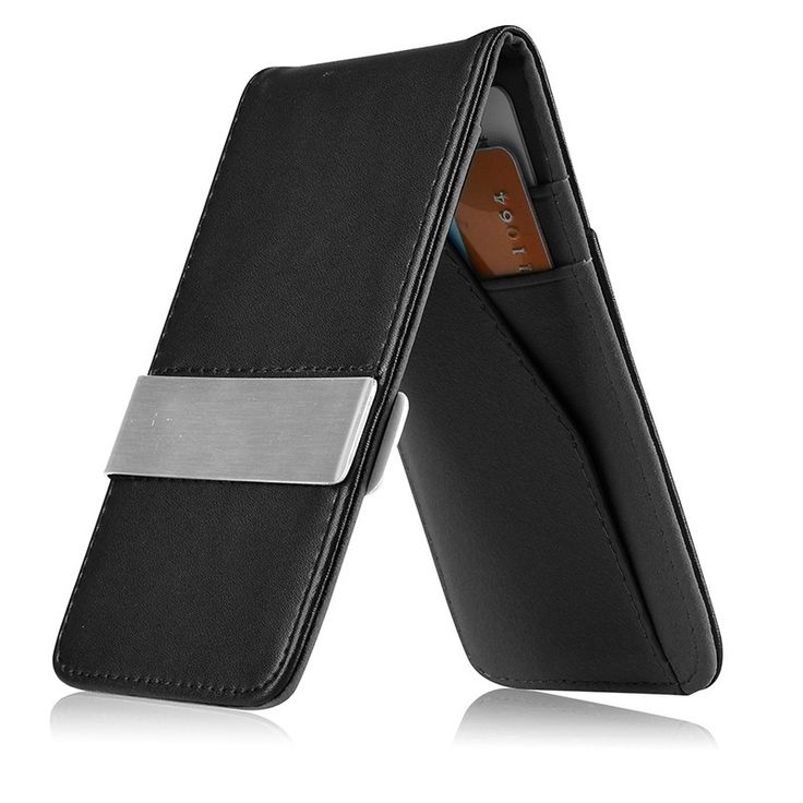 This is a BasAcc money clip wallet. Keep your bills close at hand with this slim design money clip wallet.