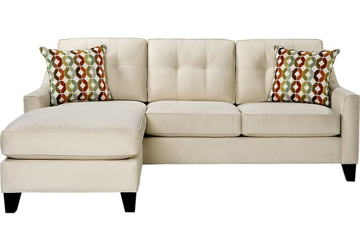 Rooms To Go Madison Hill 2 Piece Sectional Vanilla 799 99