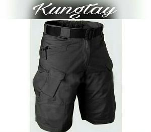 Size 28 30 32 34 36 38 40 Warna Hitam Abu Hijau Cream Celana Cargo Pendek Blackhawk Tactical PDL Gunung Militer KKA111