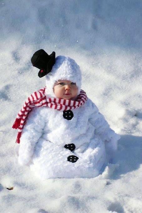 Картинки прикольные детей зима