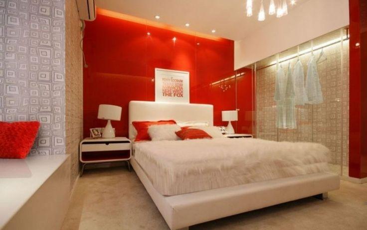 #excll #дизайнинтерьера #решения Доказано, что красный цвет повышает давление и учащает сердцебиение, но если вы будете находится в спальне после захода солнца и видеть вашу красную стену только при искусственном освещении- она будет казаться теплой и элегантной.