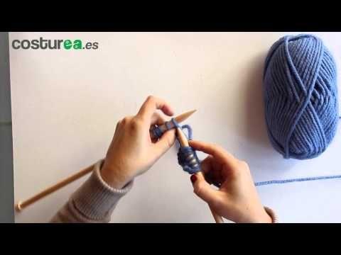 Cómo aumentar puntos con dos agujas - costurea