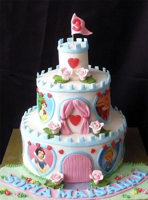 Princess Castle Cake -- !!! I must learn to decorate cakes adorably before I have children
