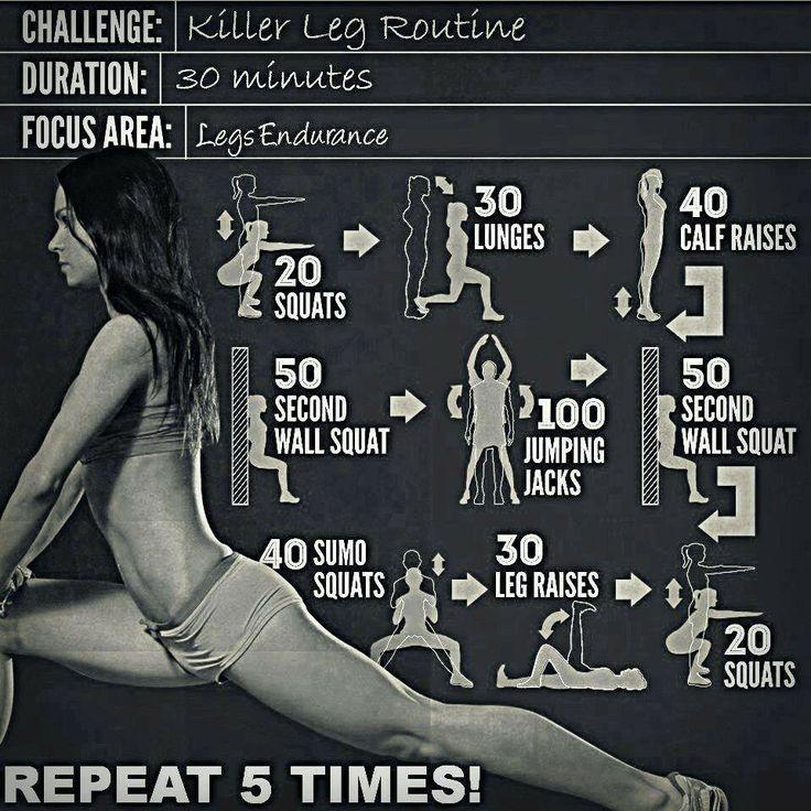 Home Gym Leg Workout: Leg Workout. No Equipment Required!