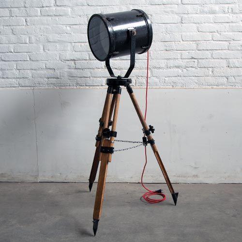 Vintage staande lamp industrieel: bij Factory 800