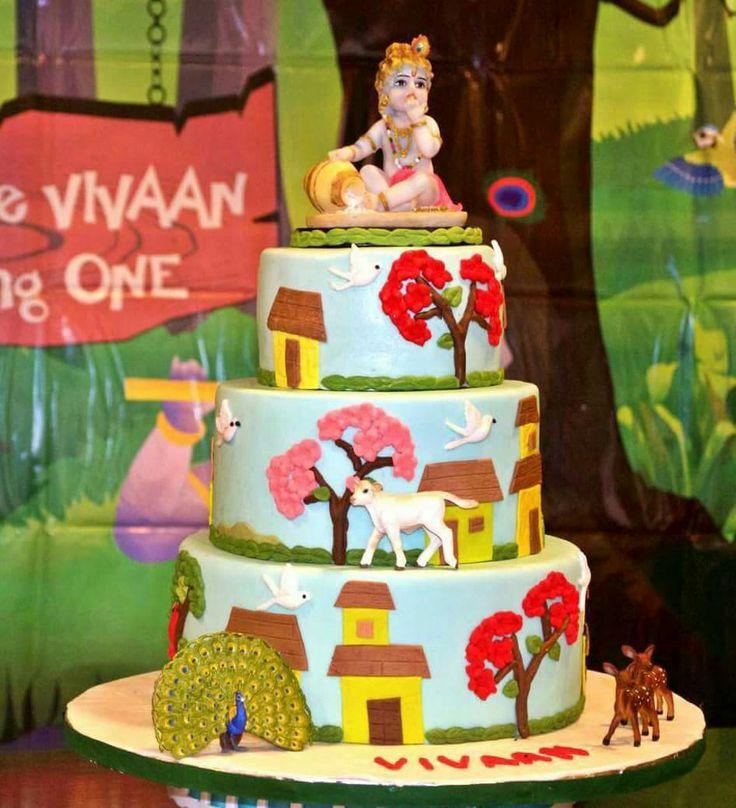 11 Best Baby Krishna Cake Images On Pinterest