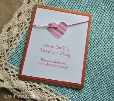 25 best DIY Valentines Day Invitations Cards Printable Templates
