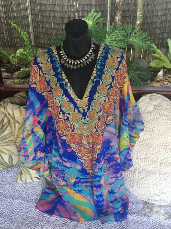 Bell sleave fitted kaftan  by wildorchidaustralia on Etsy