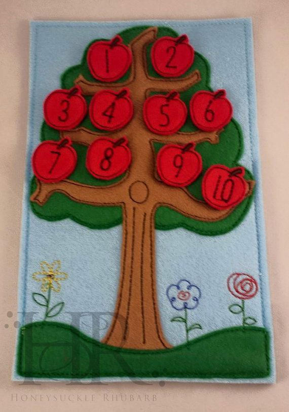 Tree Counting Board (Learn to count)