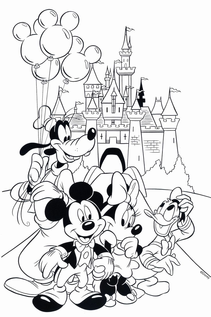 Disney Coloring Pages For Kids Mickey And Minnie In 2020 Cartoon Coloring Pages Mickey Mouse Coloring Pages Disney Coloring Pages