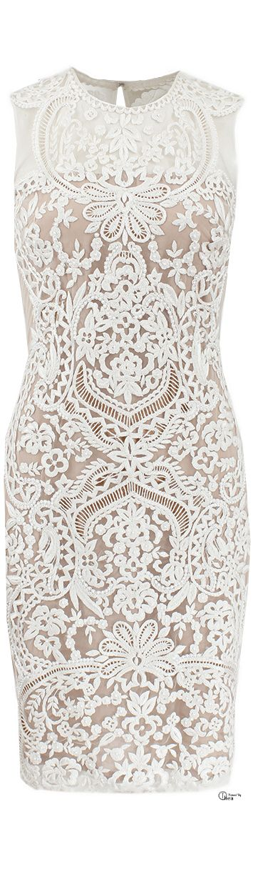 Naeem Khan SS 2014, Embroidered Illusion Cocktail Dress Rayban sunglasses just $24.88 httpwww.raybanhotd.com  ..for the bridal shower