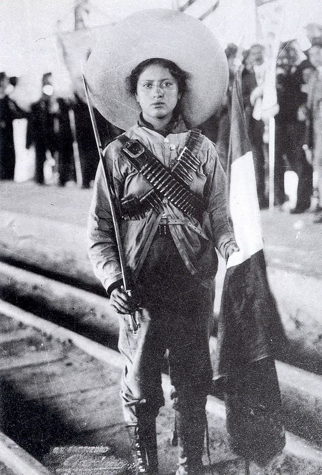 An Adelita or Soldadera, Mexican Revolution 1910
