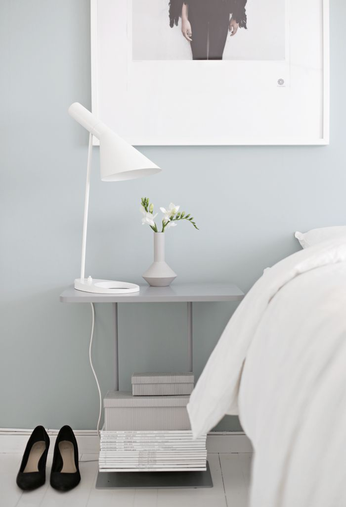 Bedroom, AL lamp, prekestolen, white