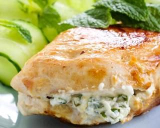 Filets de poulet farcis au basilic et fromage frais 0%