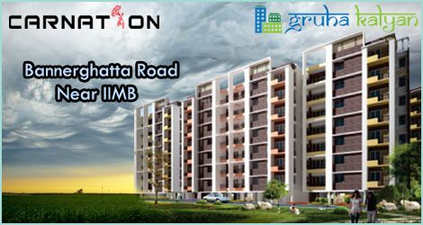 GruhaKalyan CARNATION at Bannerghatta Road G+5 Structure 2,3&4 BHK flats Available Near to APPOLO Hospital Price Starts from 21.25 Lakhs On wards.