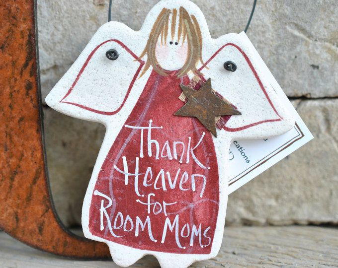 Room Mom Gift Salt Dough Ornament