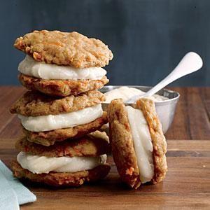 Carrot Cake Sandwich Cookies Recipe   MyRecipes.com