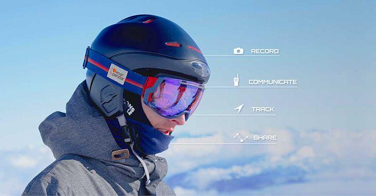 Casque de ski connecté avec caméra HD 4K
