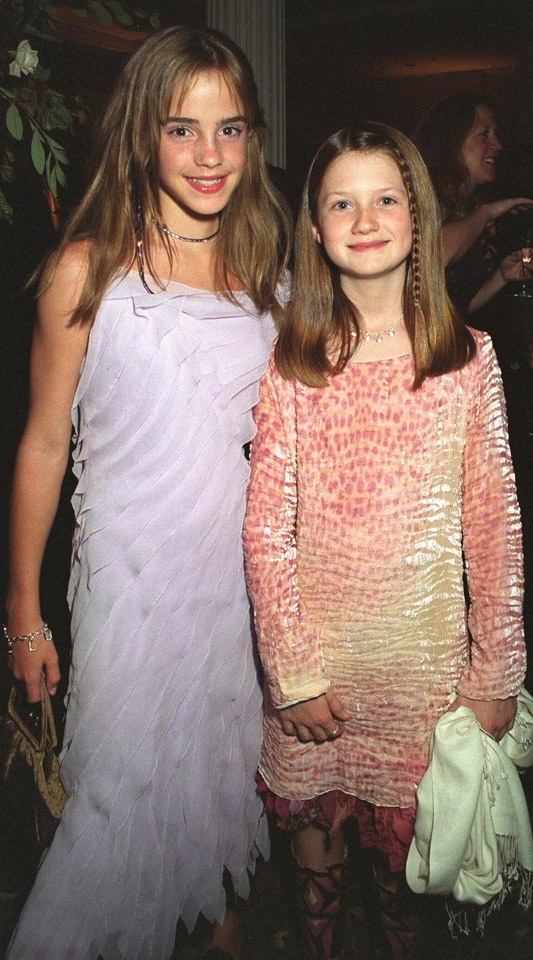 Emma Watson and Bonnie Wright, 2002.