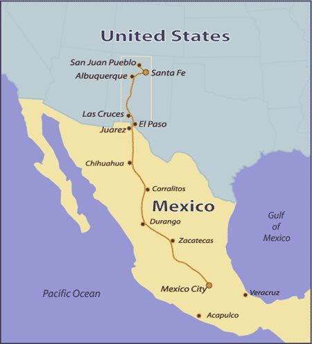Best New Mexico Land Of Enchantment Images On Pinterest - Map of mexico and us