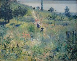 Pierre Auguste Renoir, Il sentiero nell'erba alta, 1874, olio su tela, Musèe d'Orsay