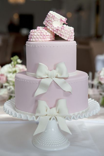 Bootees and Bows by Sweet Tiers, via Flickr