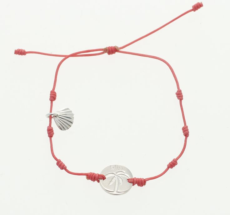 Inmotion Essentials by Monica Øien | Palm Springs bracelet silver coin pink