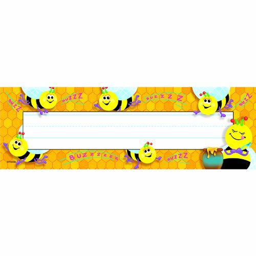 Busy Bees Desk Toppers Name Plates, 2015 Amazon Top Rated Desk Tapes U0026  Nameplates #
