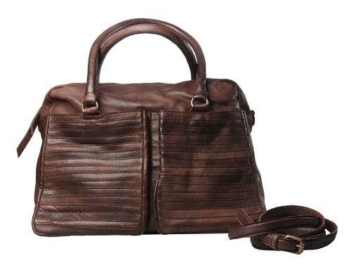 Borsa da giorno con due grandi tasche sul davanti. Decorazione di fasce applicate.  #resinastyle #bag #bags #daybag #fashion #borse #model #luxurybag #fashionable #handbag #fashionaddict #leather #handmade #fairtrade http://www.resinastyle.com/ready-made/