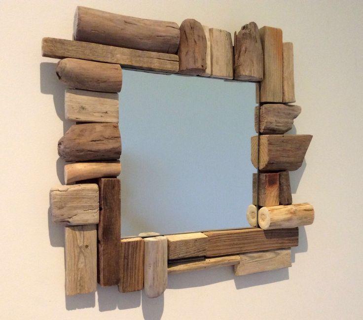 Miroir en bois flotté par l'Atelier de Corinne : …