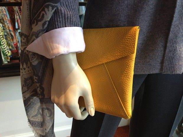 What to Wear, Oct 13. detail of clutch, J. McLaughlin