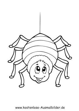 malvorlage marienkäfer | ausmalbilder spinne malvorlagen
