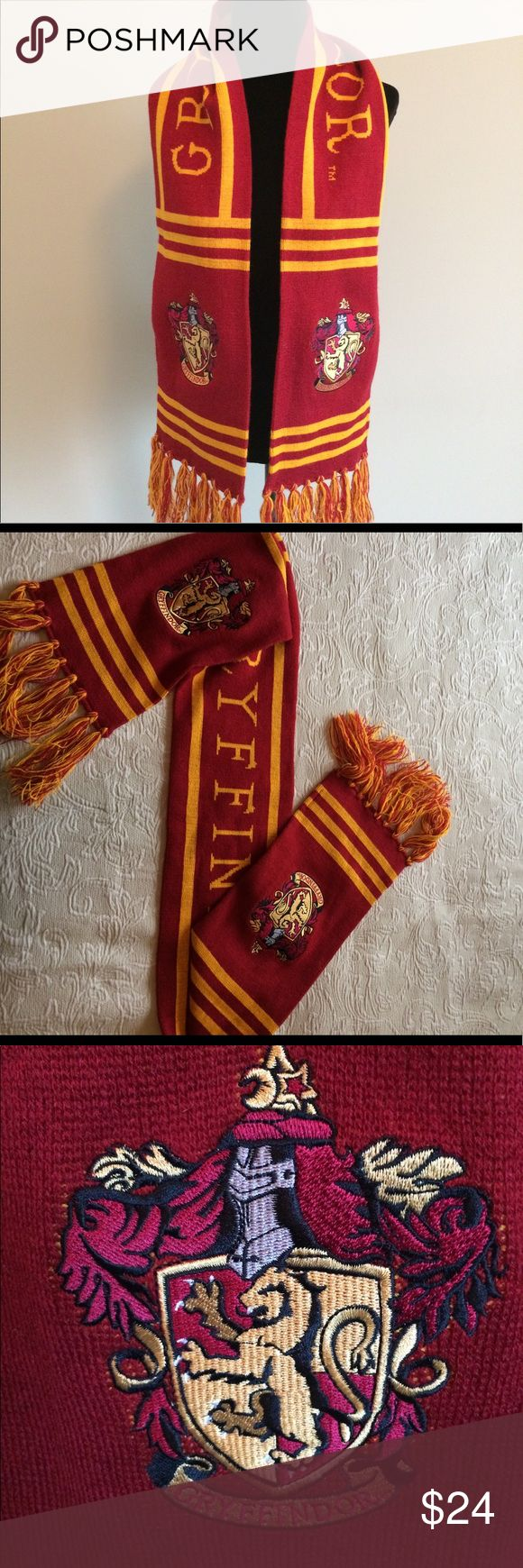 Harry Potter Gryffindor scarf! Harry Potter Gryffindor red and gold scarf! Like new condition. Harry Potter Accessories Scarves & Wraps