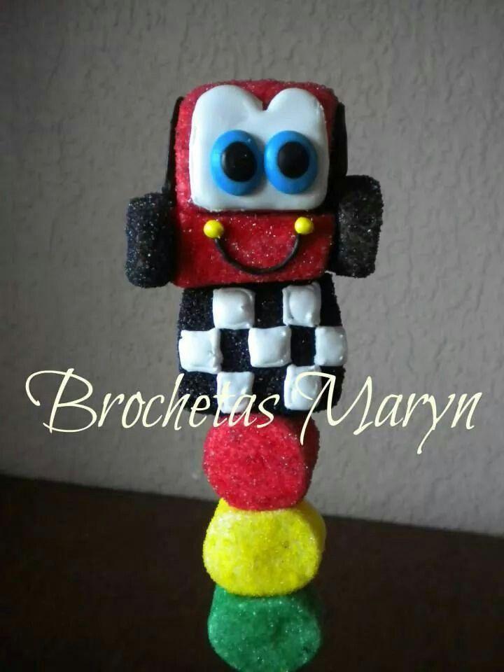 cars marshmallow pop