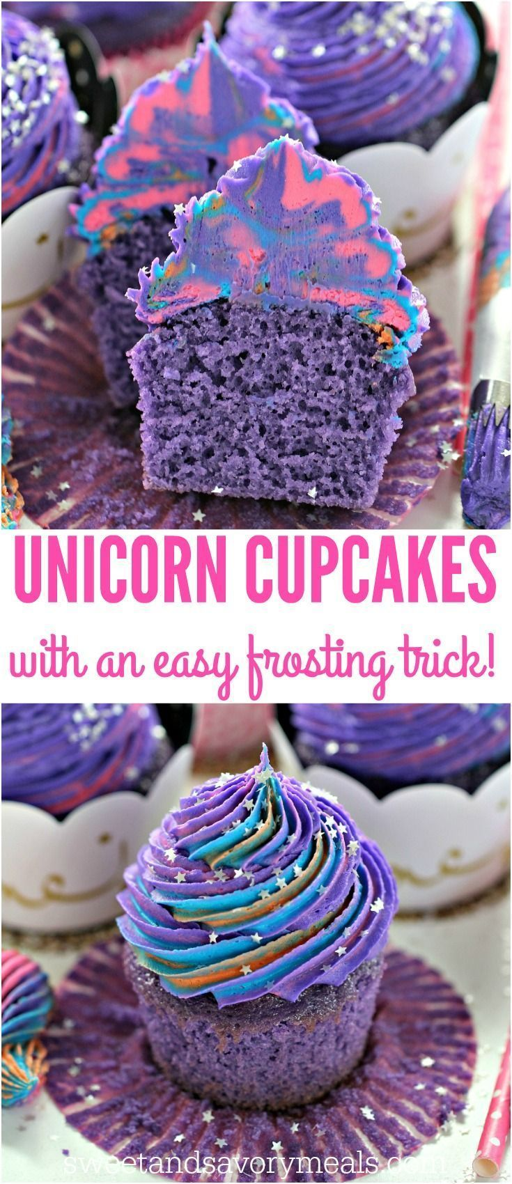 Unicorn Cupcakes are astonishingly pretty delicious and easy to