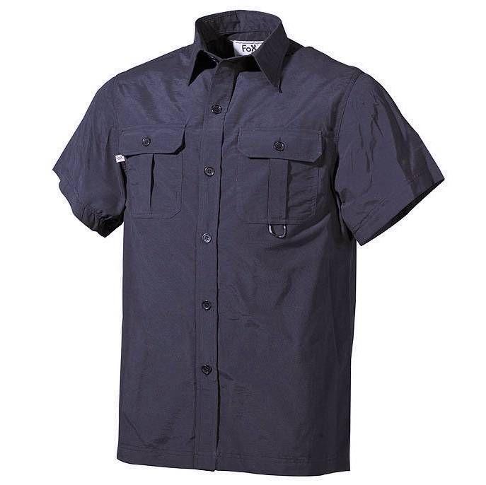 Fox Outdoor Outdoor Hemd, kurzarm, schwarz