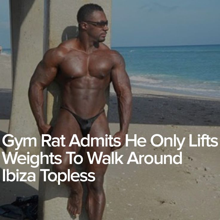 Gym Rat Admits He Only Lifts Weights To Walk Around Ibiza Topless