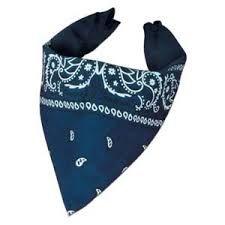 Blåt Cowboy tørklæde til dit Cowboy kostume til Cowboy festen.