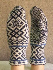 The second pattern in my 3 Little Mittens collection, Delft is influenced by the Delft tiles and windmills of my Dutch heritage, with picot hems and Latvian braids.