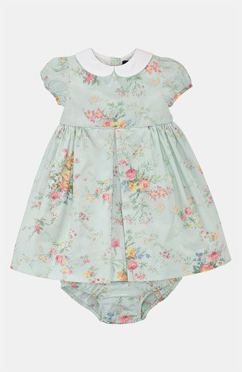 Ralph Lauren Floral Dress Bloomers (Infant) | Nordstrom Easter dress