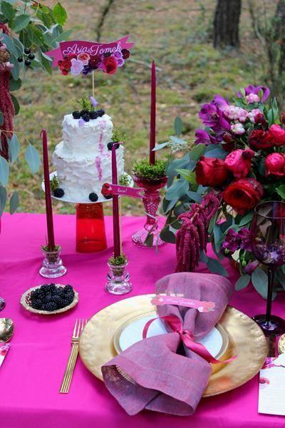 dekoracje ślubne - bukiet kwiatów i ozdoby
