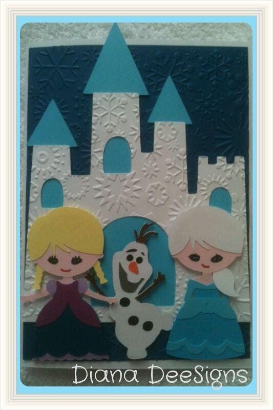 Frozen birthday card, using Cricut Create a Friend cartridge.  Fun to make!